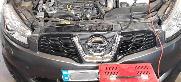 Nissan Quashqai 1,6D MT 2012 г.в. Чип-тюнинг, отключение системы EGR и сажевого фильтра