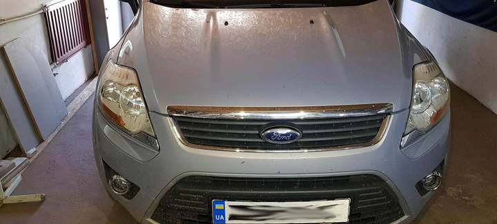 Ford Kuga 2,5T 2012 г.в. Чип-тюнинг, перевод на нормы Евро 2