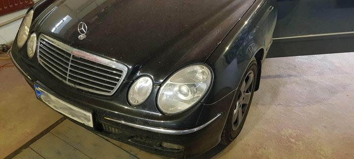 Mercedes E 2,2D AT 2004 г.в. Чип-тюнинг, отключение системы EGR и сажевого фильтра DPF