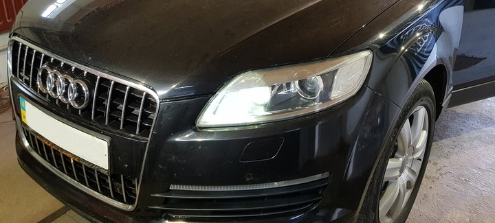 Audi Q7 3,0 TDi AT 2007 - Чип-тюнинг, перевод на нормы Евро2, отключение системы вихревых заслонок